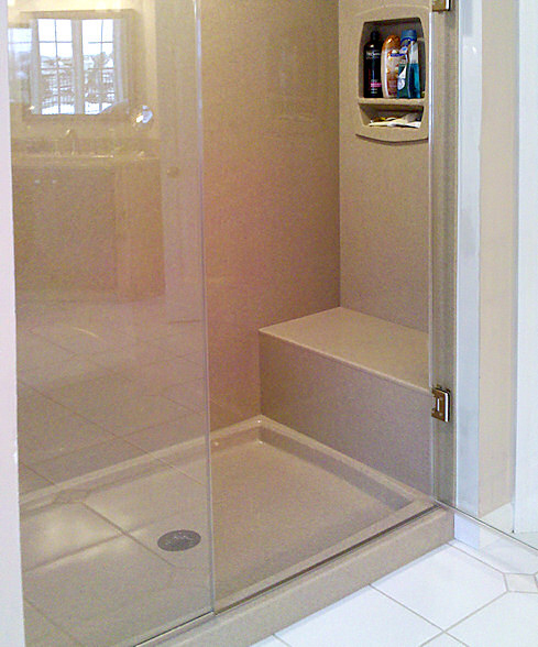 These Kits Include The Shower Base All Wall Panels Adhesive Silicone And Also Color Match Seamfill